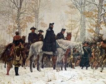 Large George Washington At Valley Forge Revolutionary War Fine Art Canvas Print