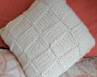Chunky Knit Throw Pillow | Patch Knit Pillow | Knit Decor Pillow | Knit Pillow