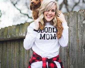 White Doodle Mom Shirt
