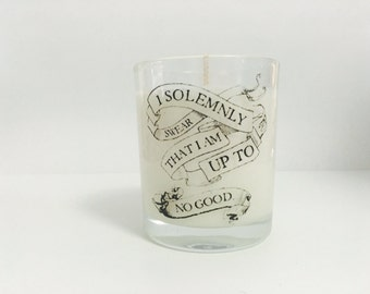 I solemnly swear I am up to no good candle