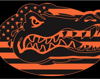 University of Florida Gators decal sticker American flag America