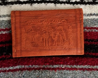 Moroccan Embossed Leather Wallet