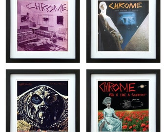 Chrome - Framed Album Art - Set of 4 Images