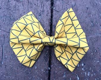 Yellow  Zig Zag Bow