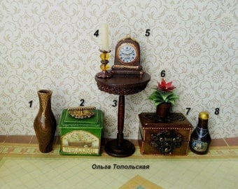 Accessories for the doll house. Doll miniature. Dollhouse. 1:12.