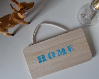 Poster wood Home
