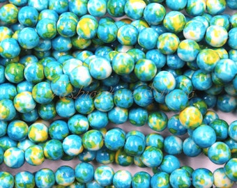 Rain Flower Stone Beads, 4mm 6mm 8mm, Full Strand 15.5 inches, Gemstone Beads, Beading Suppliers, Jewelry Suppliers