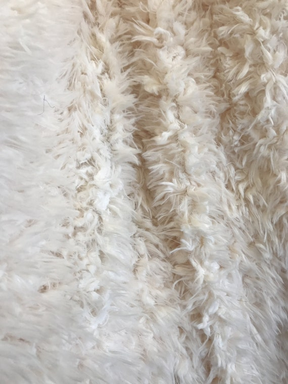 Off White Extremely Soft Mountain Goat Faux Fur Fabric By The Yard From JSInternationalTex On Etsy Studio