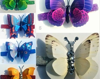 Small 3D Butterfly Hairclips