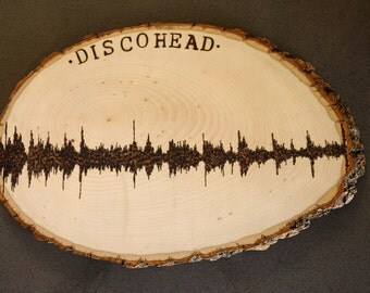 Cutom Soundwave Wood Burned Wall Art