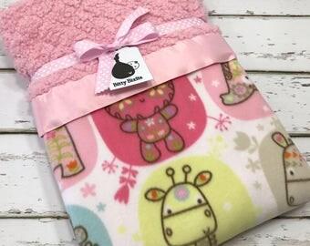 elephant baby blanket satin blanket fluffy blanket baby girl blanket minky blanket girl baby shower gift baby girl gift elephant blanket