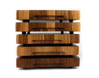 Chopping board solid oak face wood handmade
