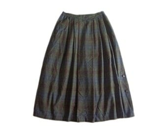 Vintage Meico Landhause Look women skirt checked