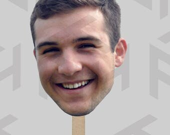 Custom Fan Head/Head Cut-outs on a stick for parties, graduations, and more!