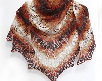 Knitted scarf shawl,knit shawl,wraps shawls,sandy-brown shawl, knitted scarf, shawl of wool, knit scarf-shawl, delicate shawl, crochet shawl