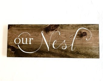 Handpainted Rustic Sign - Rustic Home Decor - Wooden Sign