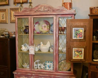 Painted Shabby Chic China Cabinet