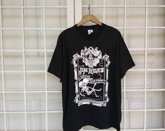 Vintage The Jim Rose Circus Sideshow T-Shirt Black Colour Extra Large Size Made In Usa