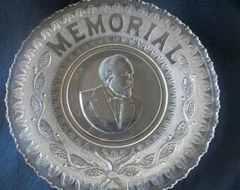 President Garfield Memorial Bread Plate