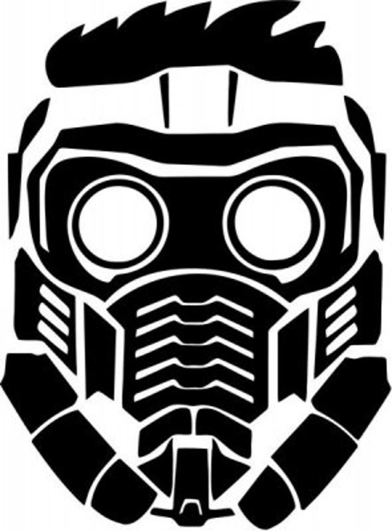 Vinyl Decal Sticker - Star Lord Peter Quill Mask decal for Windows, Cars, Laptops, Macbook, Yeti, Coolers, Mugs etc