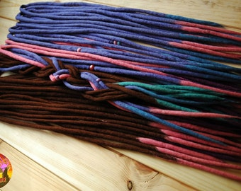 Wool doule ended dreads with FREE beads