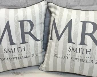 Mr & Mrs Set of Luxury Cushions