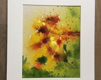 Watercolor Abstract Original painting