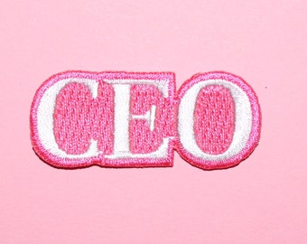 ceo patch- hot pink