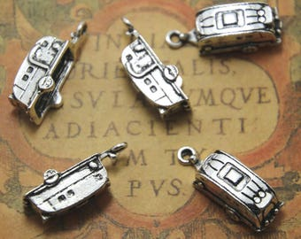 10pcs Camper Trailer Charms silver tone Camper Trailer Charms pendants  23mm x 6mm ASD1245