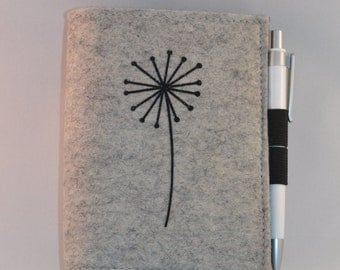 Note pad with felt cover