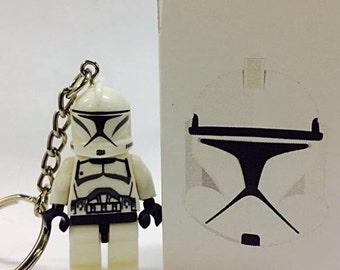 Clone Trooper Minifigure Keychain