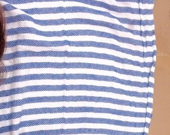 Blue and White Pestemal Turkish Towel