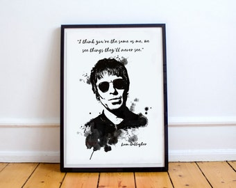 Liam Gallagher Oasis A4 Poster - Wall decor art print - Best selling art - Liam Gallagher print