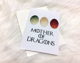 Game of Thrones: Mother of Dragons (Mother's Day, Anniversary, Birthday/Blank) greeting card