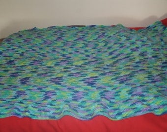 Medium Custom Crochet Blanket 33 inches long by 58 inches wide