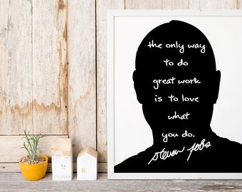 "Steve Jobs ""Great Work"" Art Print"