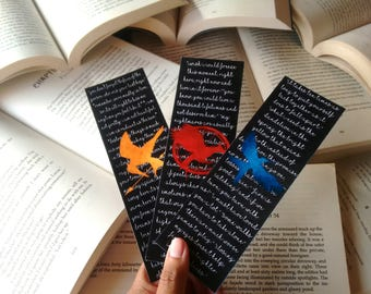 Hunger Games Trilogy quoted bookmarks