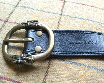 Vintage Leather Belt Vintage Lucky Brand Vintage Belt