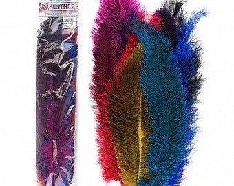 Dyed Ostrich Floss Feather Mix - B810M