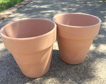 Darling BRAND NEW terra cotta pots!