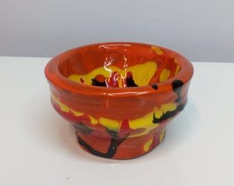 Handmade and hand painted ceramic bowl