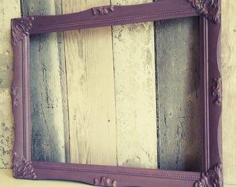 Open frame, empty frame, picture frame prop, photo prop frame, chalk painted frames, backless frame, baroque frame
