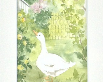 """Table watercolor """"a day in the country"""""""