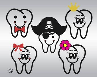 My first tooth SVG Clipart Cut Files Silhouette Cameo Svg for Cricut and Vinyl File cutting Digital cuts file DXF Png Pdf Eps