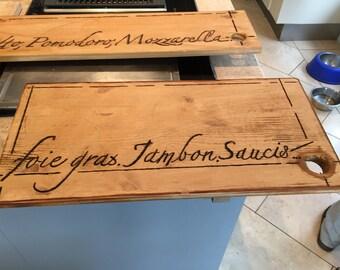 Customizable wooden plank