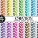 Buy 1 Get 1 Free!! 48 Chevron Digital Paper • Rainbow Digital Paper • Commercial Use • Instant Download • #CHEVRON-133-1