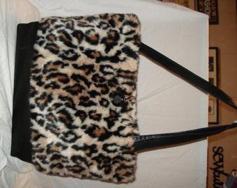 Large Faux Fur Handbag