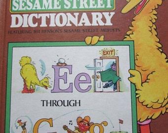 Vintage Sesame Street Book Big Bird's Dictionary Volume 3 Jim Henson's Puppets Children's Television Workshop
