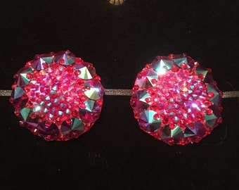 The Empress Siam AB Crystal Rhinestone Burlesque Pasties