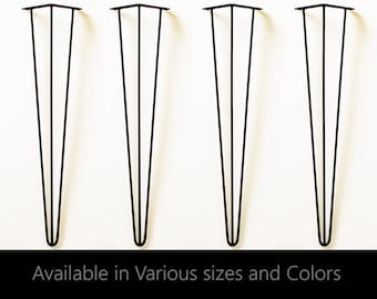 Hairpin Legs set of 4, dining table legs, table legs, metal table legs, hair pin legs, industrial, modern